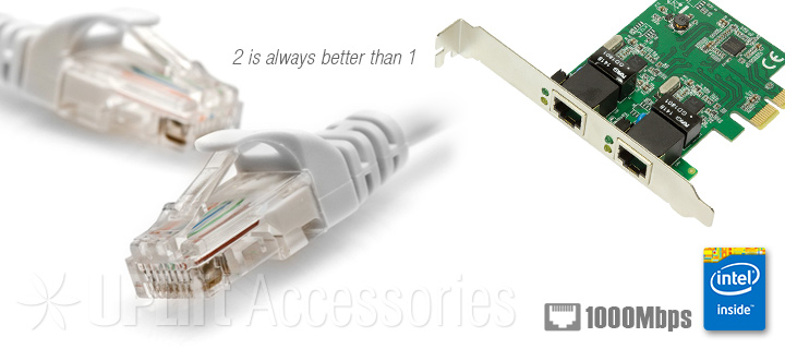 Intel Gigabit Ethernet LAN Adapter with Bootrom 2-Port (PCI-E)